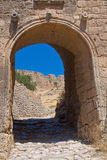 Entrance to the ancient fortress. Stock Photography