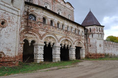 Entrance to ancient monastery. Entrance to the Monastery of Sts Boris and Gleb near Rostov the Great, Russia Stock Photo