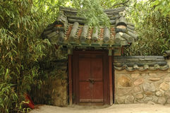 Entrance to ancient oriental palace Stock Image