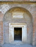 Entrance to the ancient patrician tomb Royalty Free Stock Image