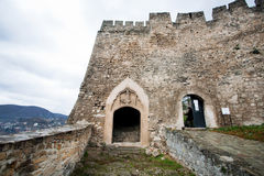 Entrance to the ancient stone fortress Royalty Free Stock Photo