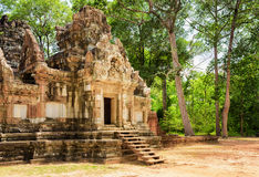 Entrance to ancient Thommanon temple in Angkor, Cambodia Royalty Free Stock Images