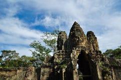 Entrance to Angkor thom Royalty Free Stock Photography