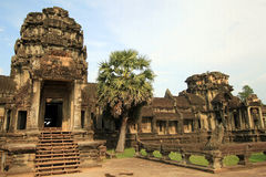 Entrance to Angkor Wat Stock Photography