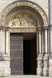 Entrance to Angouleme cathedral Royalty Free Stock Photo