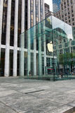 Entrance to Apple Store on Fifth Avenue, Manhattan Royalty Free Stock Images