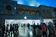 Entrance to Apple Store in unerground Forum Shops  Stock Image