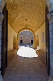 Entrance to Arcadi monastery Royalty Free Stock Photo