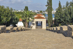 Entrance to archaeological site of Kato Paphos, Cyprus. Stock Photography