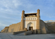 Entrance  to Ark fortress (Bukhara) Royalty Free Stock Images