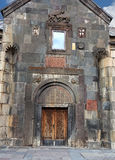Entrance to the armenian church. Front and entrance door  to the ancient armenian temple Stock Photography