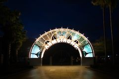 Louis Armstrong Park. The entrance to Armstrong Park in New Orleans Stock Photo