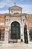Entrance to the Arsenal of Venice, Italy stock image