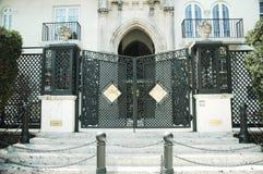 The entrance to the Art Deco Casa Casuarina aka the Versace House on Ocean Drive in Miami Beach, Florida Stock Photos