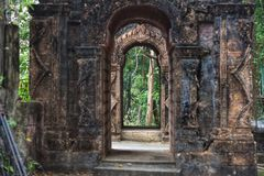 Entrance to the asia archaeological site royalty free stock photography