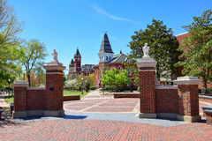 Entrance to Auburn University. The Auburn University campus is located in Auburn, AL Stock Photos