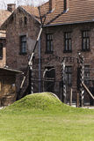 Entrance to Auschwitz concentration camp Stock Photo