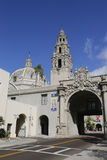 Entrance to Balboa Park and San Diego Museum of Man in San Diego, California Royalty Free Stock Photo
