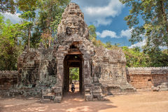 Entrance to Banteay Kdei Stock Images