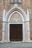 Entrance to Basilica dei Frari Stock Photography