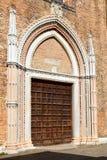 Entrance to the Basilica di Santa Maria Gloriosa dei Frari, Venice Stock Photos