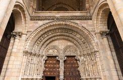 Entrance to the Basilica of San Vicente in Avila Stock Photo