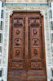 Entrance to the Basilica of Santa Croce in Florence Stock Photos