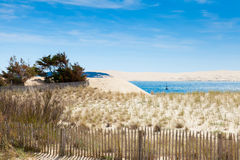 Entrance to the basin of Arcachon Cap Ferret Royalty Free Stock Photography