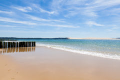 Entrance to the basin of Arcachon Cap Ferret Stock Photos