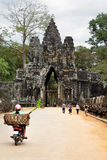 Entrance to Bayon Stock Image