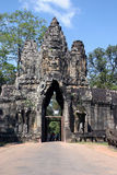 Entrance to the Bayon. Arched entrance to The Bayon temple Royalty Free Stock Images