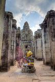 Entrance to Bayon Temple Royalty Free Stock Photos
