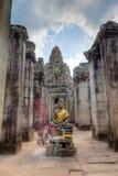 Entrance To Bayon Temple Royalty Free Stock Photos