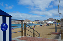 Entrance to the beach in Las Palmas, Gran Canaria Royalty Free Stock Photos