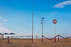 Entrance to the beach Royalty Free Stock Photos