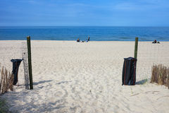 Entrance to the Beach in Wladyslawowo Royalty Free Stock Photography
