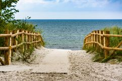 Entrance to the beaches. Royalty Free Stock Photography
