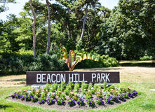 Entrance to Beacon Hill Park Royalty Free Stock Photo