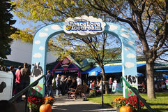 Entrance to Ben & Jerrys Ice Cream Factory, Vermont, USA Royalty Free Stock Photo