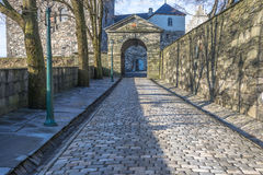 Entrance to Bergenhus fortress in Bergen Stock Photos