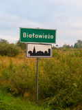 Entrance to Bialowieza village Royalty Free Stock Photos