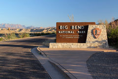 Entrance to Big Bend Stock Photography