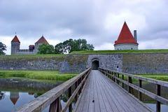 Entrance to bishop castle in Kuressaare, Estonia Stock Image