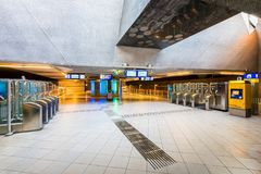 Entrance to Blaak Train and Subway Station in Rotterdam Netherlands Stock Image