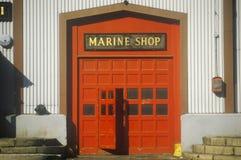 Entrance to boat marina, New York City, NY Stock Photos
