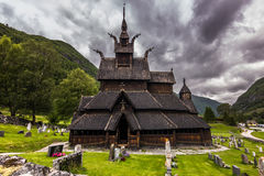 Entrance to Borgund Stave Church, Norway Royalty Free Stock Photo