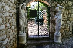 Entrance to the boutique hotel. In France Stock Image