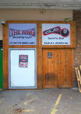 Entrance to Boxing Gym and Sports Bar Royalty Free Stock Photos