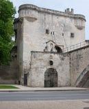 The entrance to the bridge Royalty Free Stock Photo