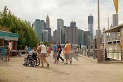 Entrance to Brooklyn Brooklyn Bridge Park New York Royalty Free Stock Image